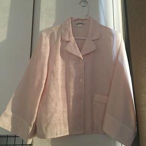 Monki Pyjama Pajama Shirt Pink